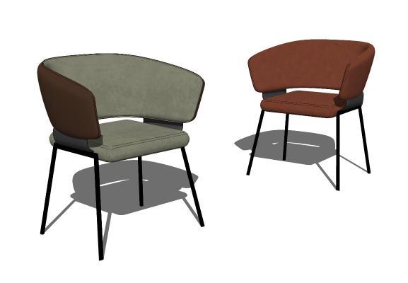 现代餐椅休闲椅