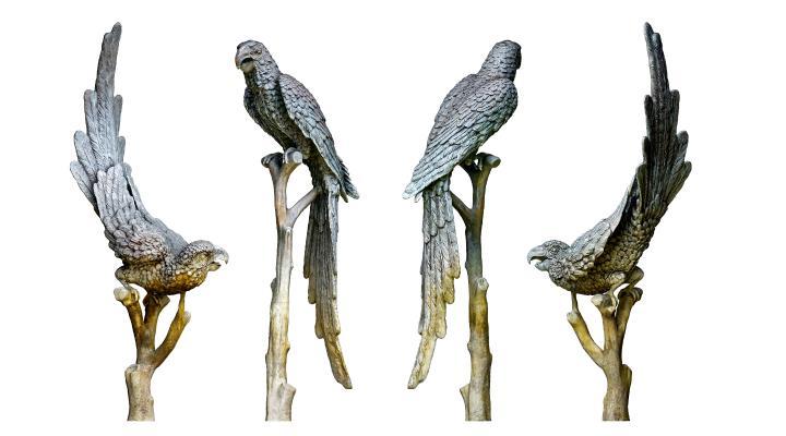 现代鹦鹉雕像 鸟雕塑