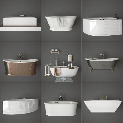 现代浴缸 浴盆