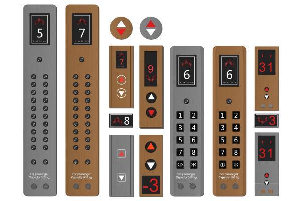 现代电梯开关 按钮 电梯按键