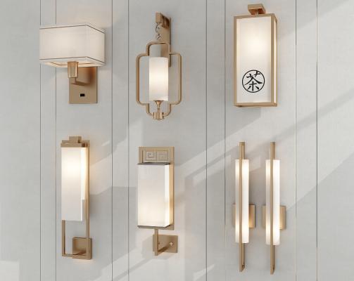 新中式壁灯 品茶区壁灯 长条型壁灯
