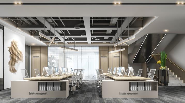 现代开放办公室