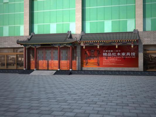 中式古建门头