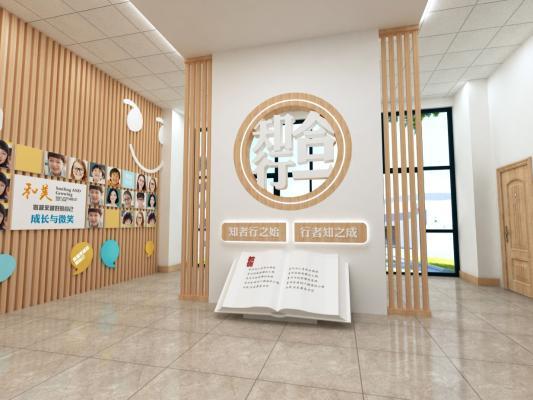 新中式学校 大厅 前厅
