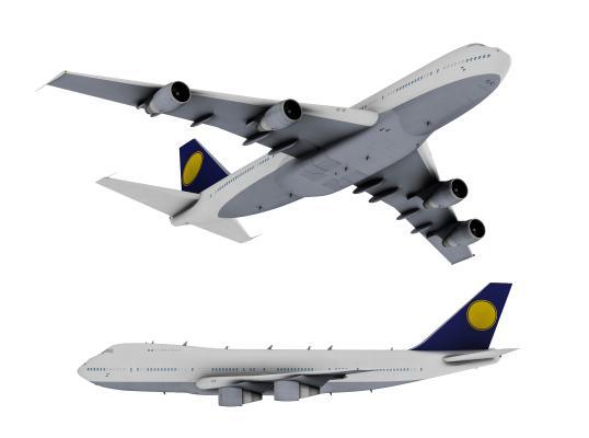 现代波音747客机 飞机
