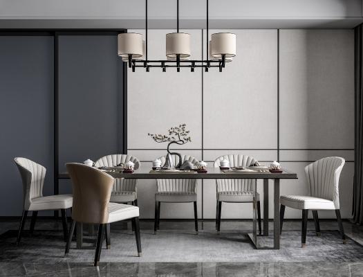 新★中式餐�d 餐桌椅