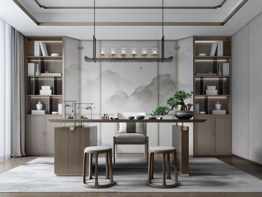 新中式书房 茶室