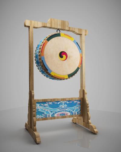 传统中式花鼓战鼓