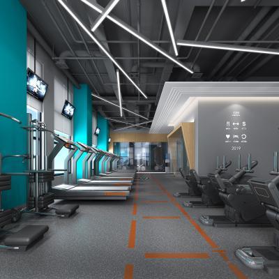 现代健身房跑步机