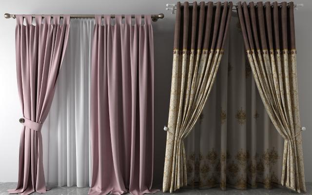 欧式窗帘纱帘双层帘
