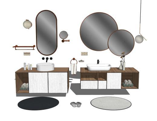 现代北欧卫浴洗手台摆件组合