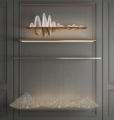 新中式山脉艺术造型水晶吊灯