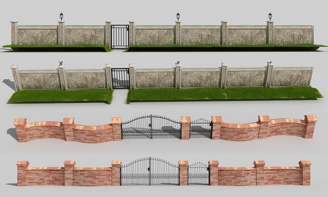 简欧围墙 围栏 花园围栏