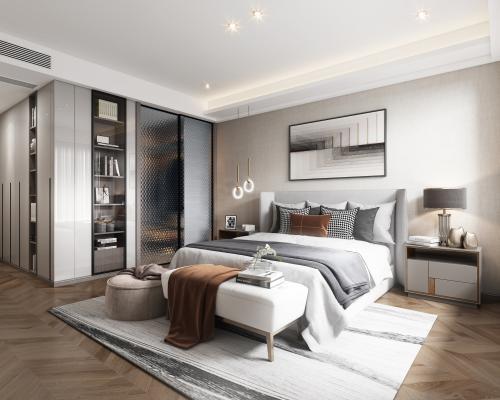现代轻奢卧室