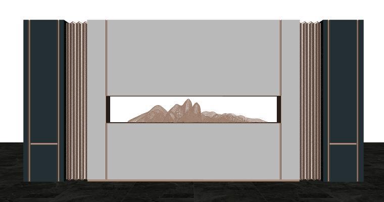 现代吧台背景墙
