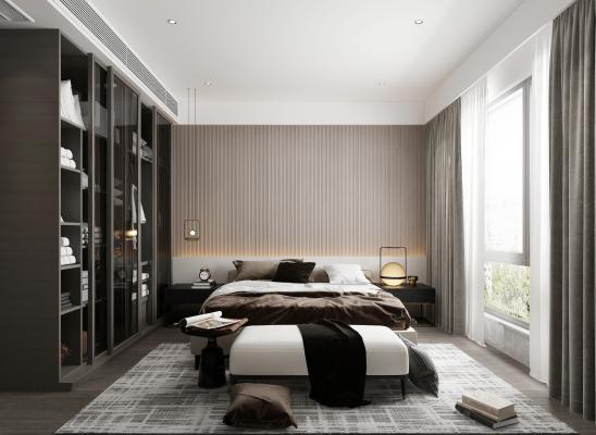 现代卧室 主人房