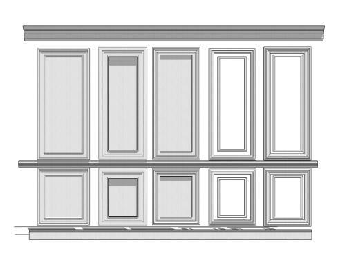 现代护墙板线条组合