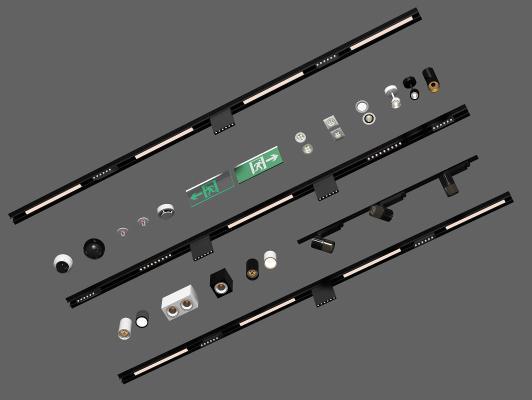 现代LED射灯 筒灯组合
