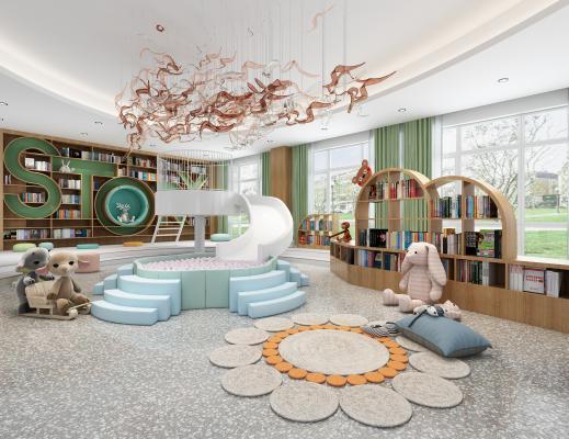 現代幼兒園圖書室