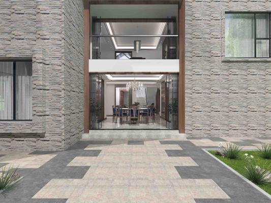 新中式风格别墅 庭院 绿地