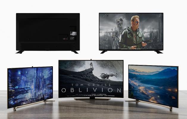 现代液晶电视组合