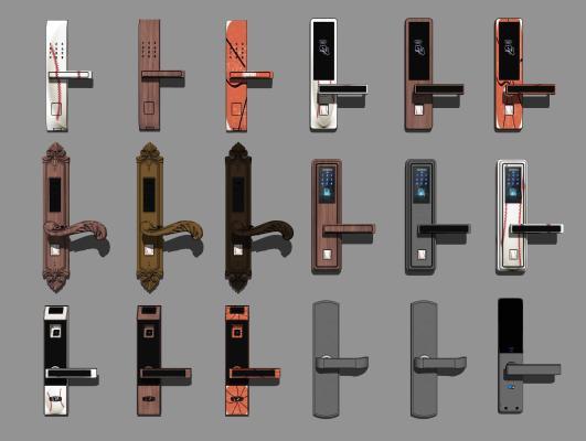 现代入户门 锁密码锁