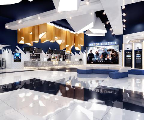 现代风格电影院 大厅 走廊