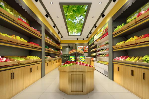 现代水果超市 果蔬店 水果店