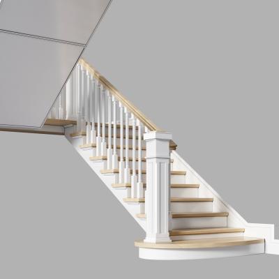 简欧实木楼梯 欧式实木楼梯