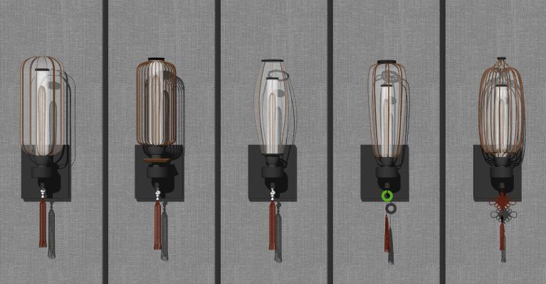 新中式壁灯 灯笼