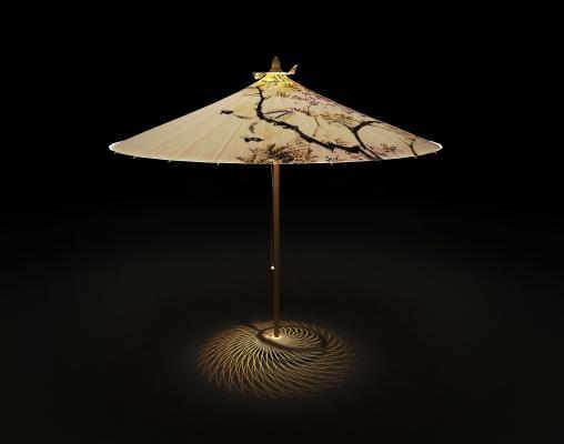 中式油纸伞台灯