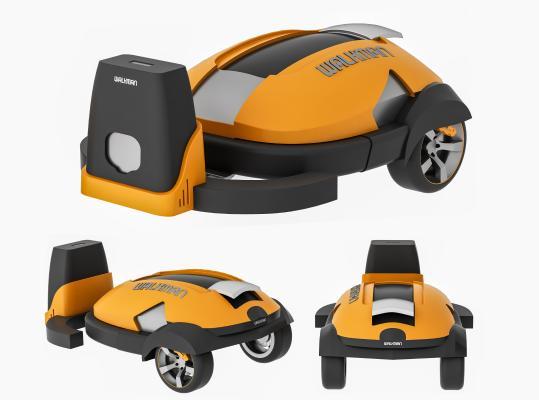 现代扫地机器人 除草机