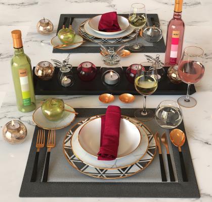 现代餐具 碗碟