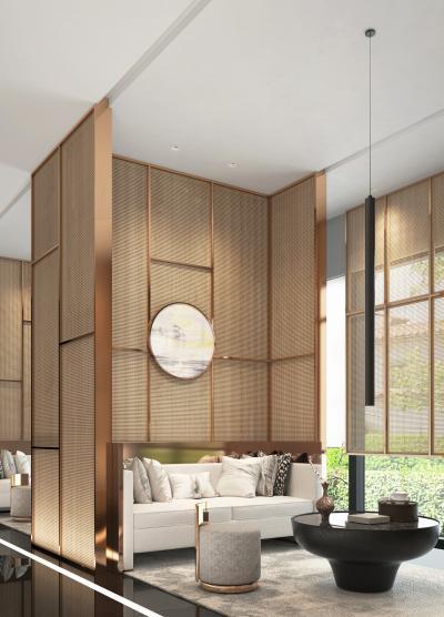 新中式售楼处接待区 酒店大堂 休息区