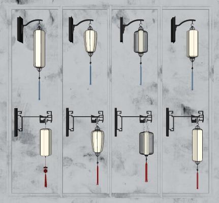 新中式灯笼壁灯