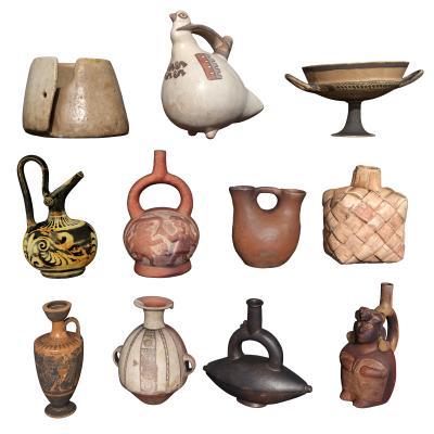 地中海陶瓷摆件组合