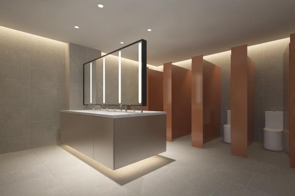 现代公共卫生间 公厕 洗手盆