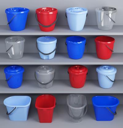 现代塑料水桶拖把桶组合