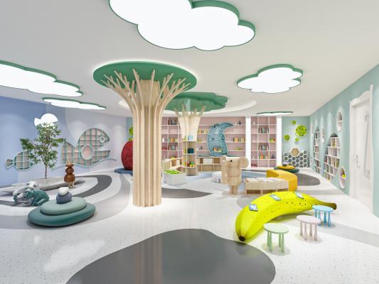 现代幼儿园 玩耍区 感统室