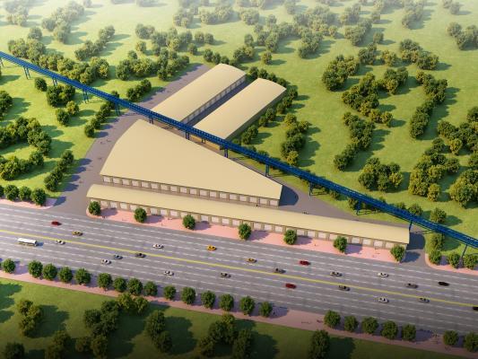 现代工业厂房 钢结构板房