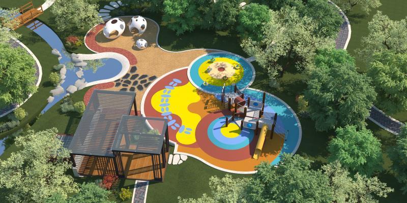 现代儿童游乐场