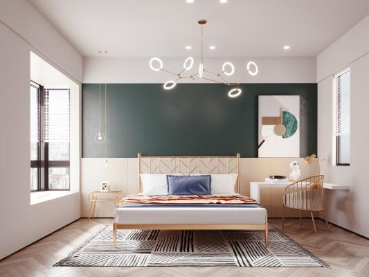 現代輕奢臥室