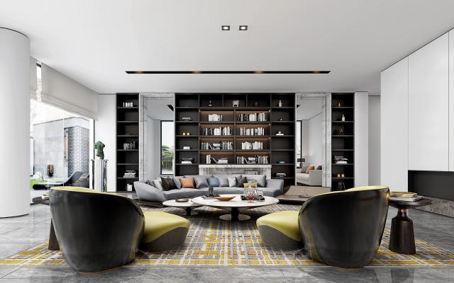 现代风格组合沙发 桌椅组合