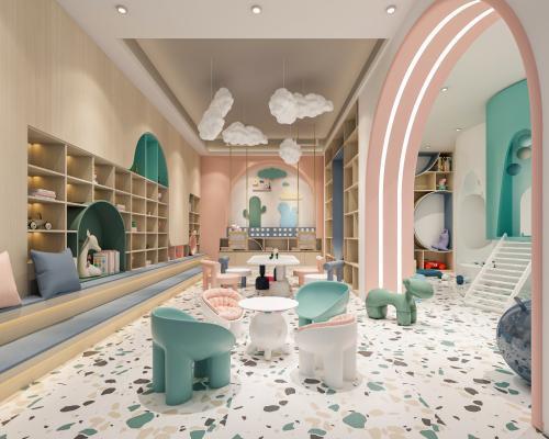 现代幼儿园 玩耍区 感统室 阅读室