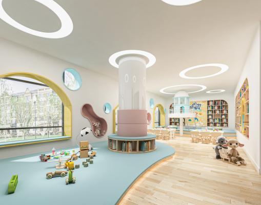 现代幼儿园阅读室 图书馆