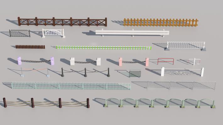现代木质景观亲水交通护栏围栏