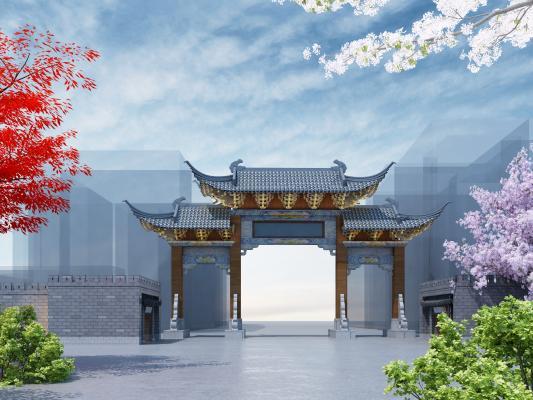 传统中式牌坊