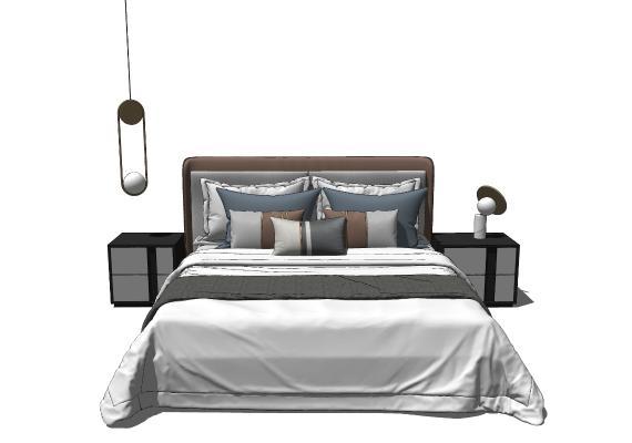 现代双人床 床具组合