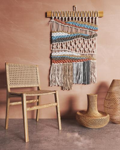 东南亚藤椅 编织墙饰