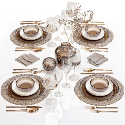 现代餐具 摆盘 陈设 碗碟